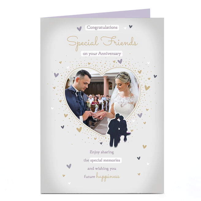 Photo Anniversary Card - Heart frame, Special Friends