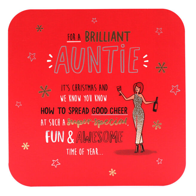 Christmas Card - For A Brilliant Auntie
