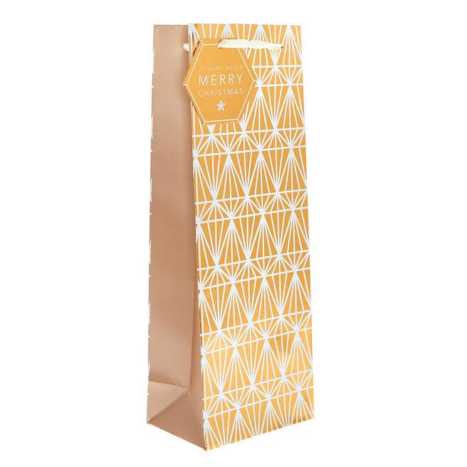Copper Diamonds Christmas Bottle Bag