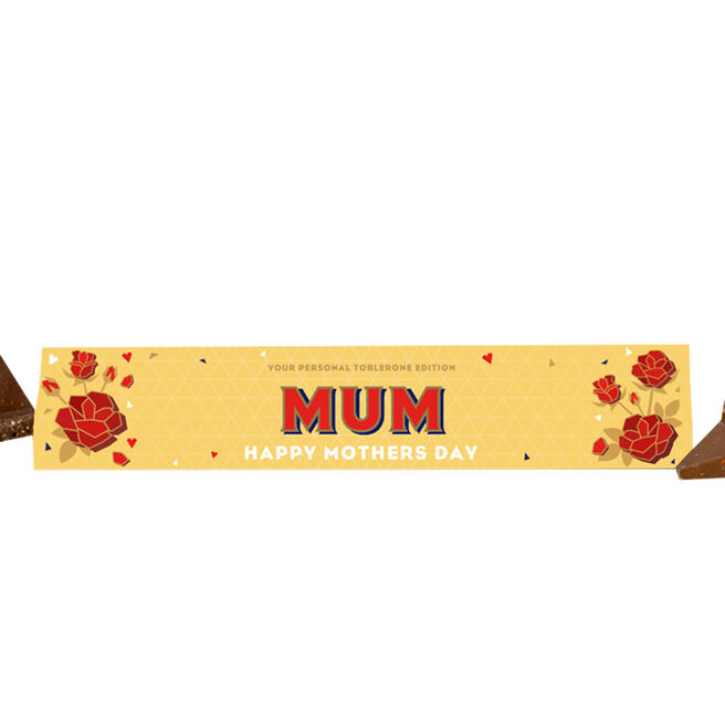 Personalised Mother's Day Milk Chocolate Toblerone 360g