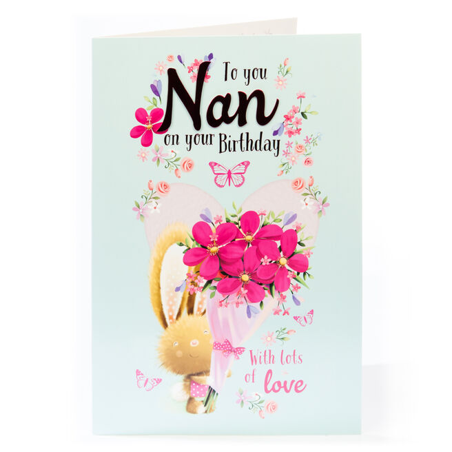 Giant Birthday Card - Nan With Lots Of Love