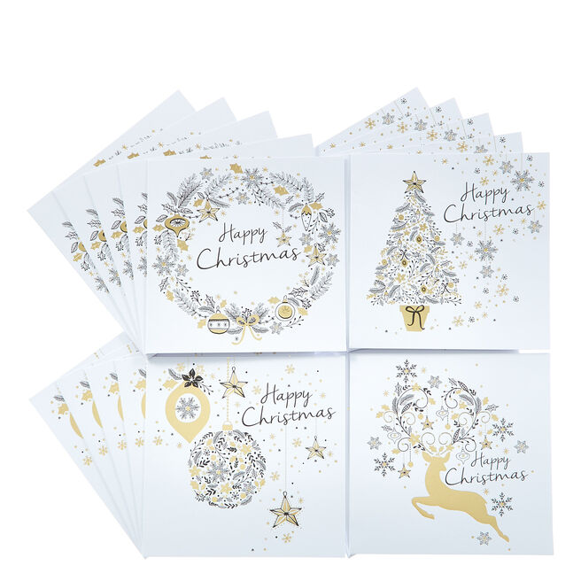 20 Classic Charity Christmas Cards - 4 Designs