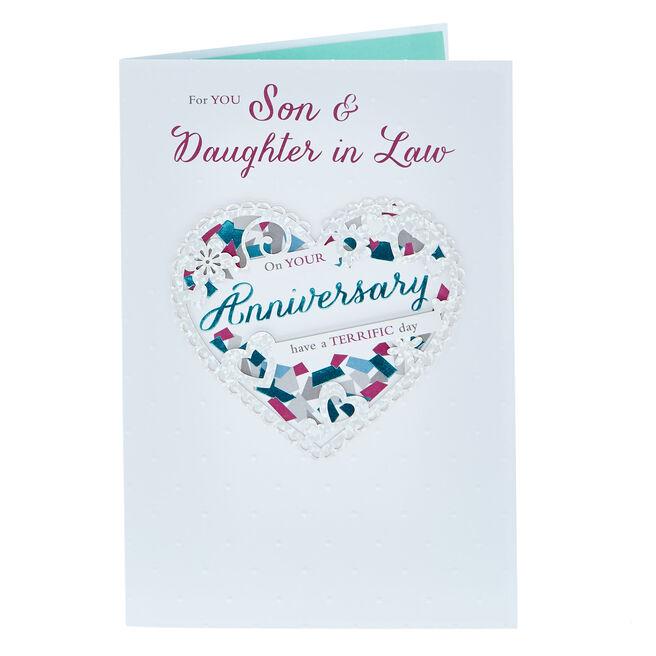 Anniversary Card - Son & Daughter In Law, Terrific