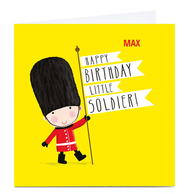 Personalised Kiddo Birthday Card - Little Soldier!