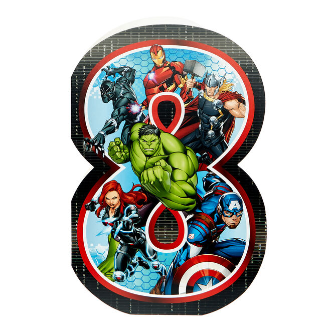 Marvel Avengers 8th Birthday Card