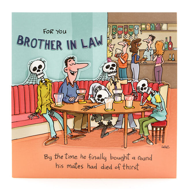 VIP Collection Birthday Card - Brother In Law Your Round