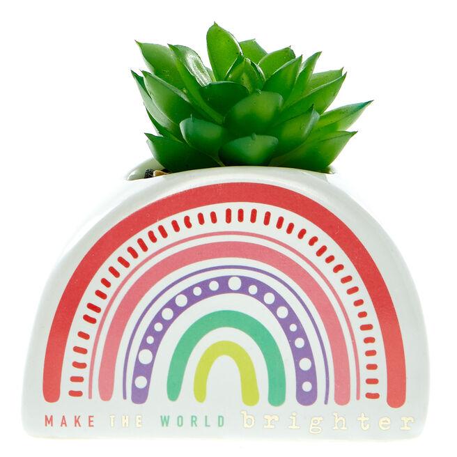 Make The World Brighter Rainbow Planter