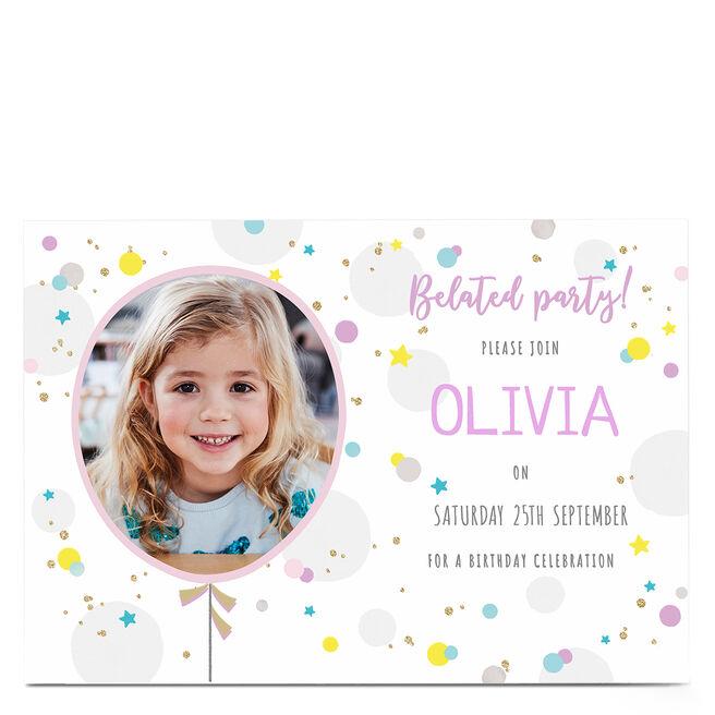 Birthday Photo Invitation - Belated Celebration
