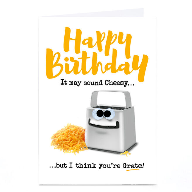 Personalised PG Quips Birthday Card - It May Sound Cheesy