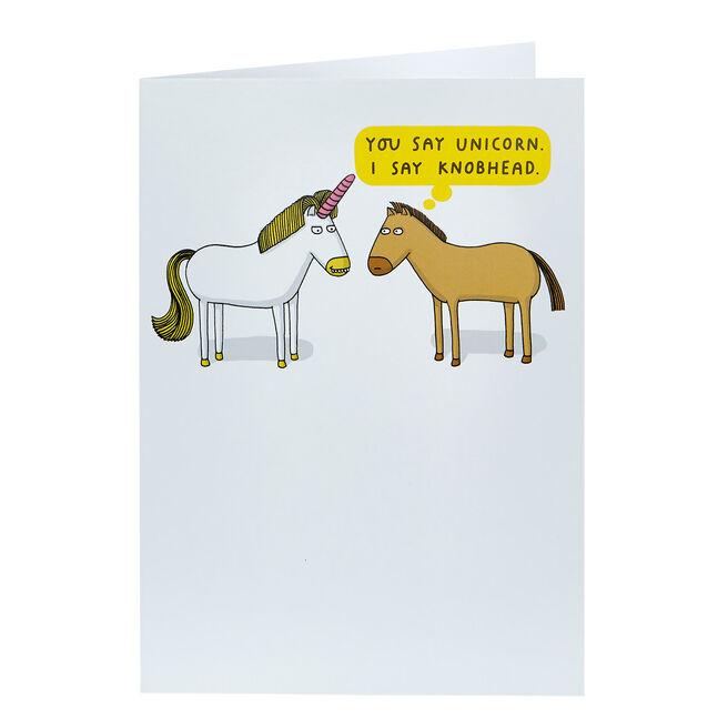 Mungo & Shoddy Card - You Say Unicorn...