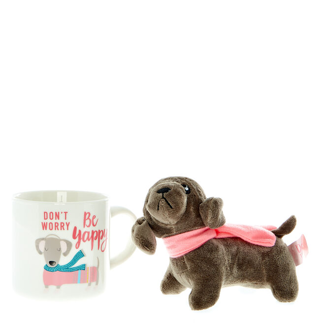 Happy & Bright Dash The Dog Mug & Toy