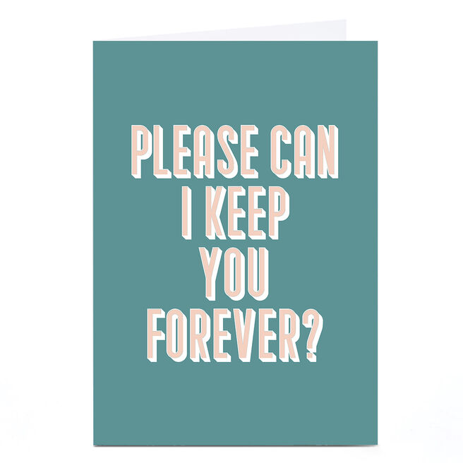 Personalised Phoebe Munger Card - Keep you Forever