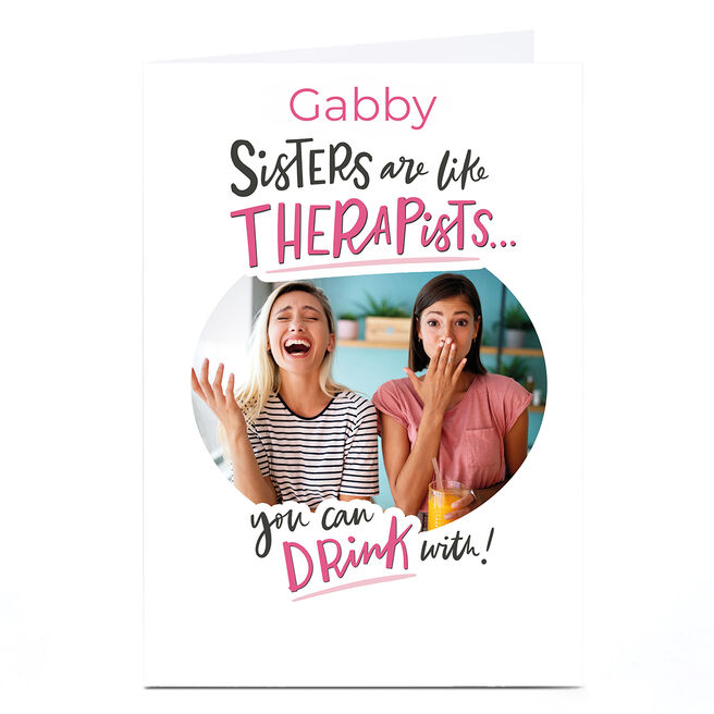 Photo Girl Talk Card - Sisters Are Like Therapists
