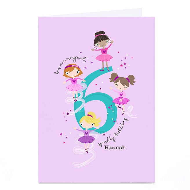 Personalised Rachel Griffin Birthday Card - 6, Sparkly Birthday