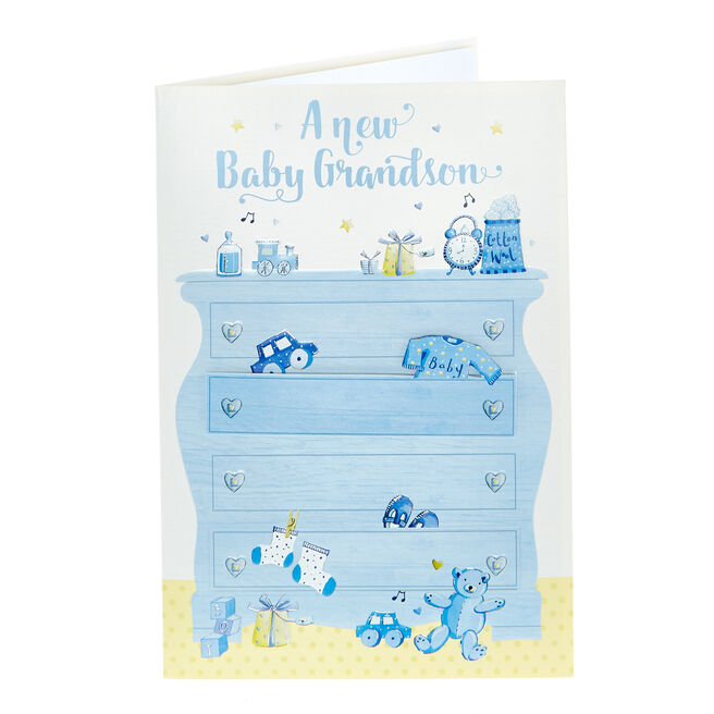 New Baby Card - New Grandson