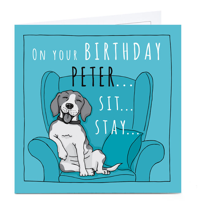 Personalised Totally Pawsome Birthday Card - On Your Birthday