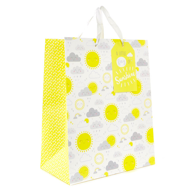 Medium Ray of Sunshine New Baby Gift Bag