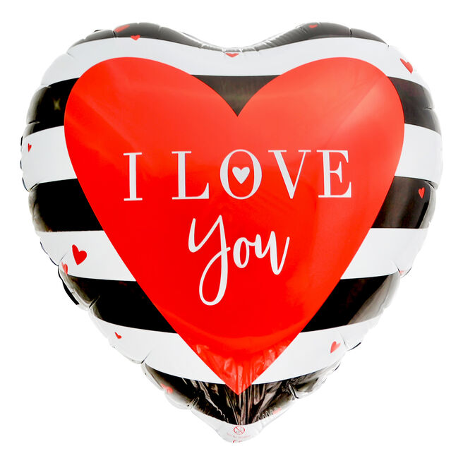 I Love You Heart-Shaped 18-Inch Foil Helium Balloon