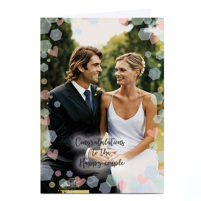 Photo Wedding Card - Congratulations To The Happy Couple