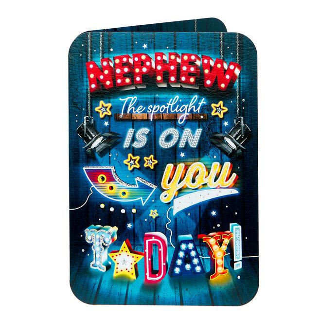 Birthday Card - Nephew, Spotlight