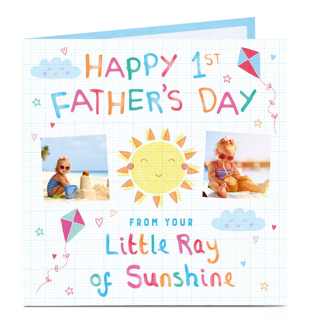 Photo Father's Day Card - First Father's Day, Sunshine