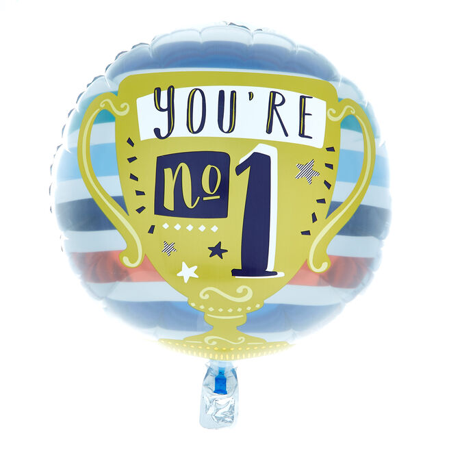 You're No 1 Trophy 18-Inch Foil Helium Balloon