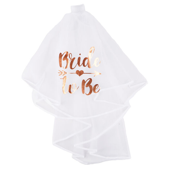 Rose Gold Bride-To-Be Hen Party Veil
