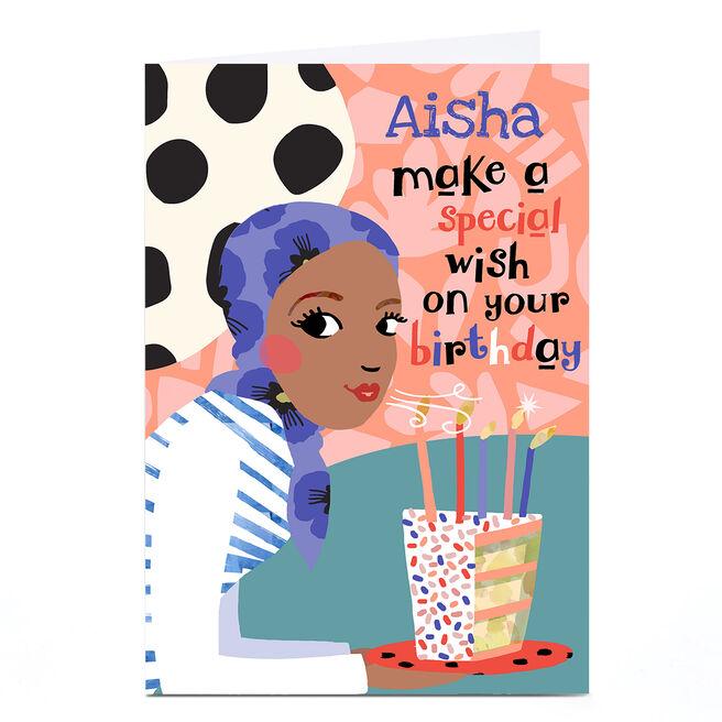 Personalised Bev Hopwood Birthday Card - Special Wish