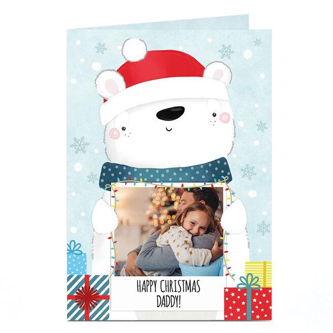 Photo Christmas Card - Polar Bear Polaroid