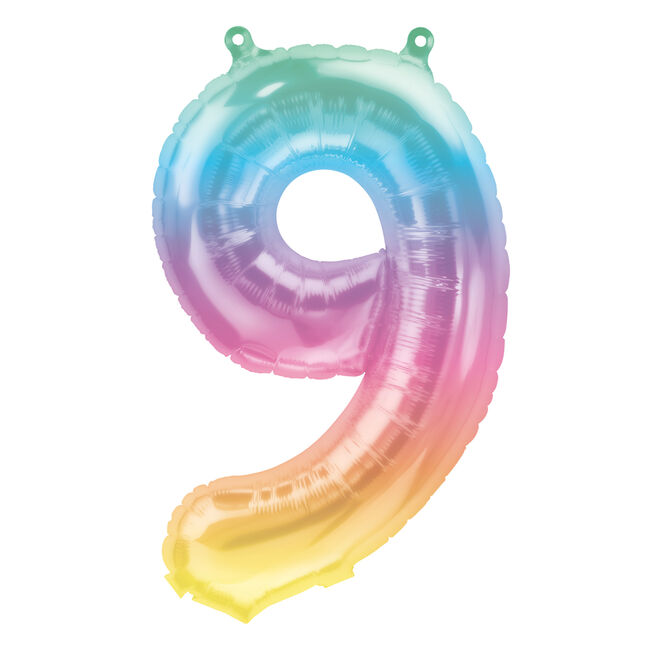 Jeli Ombre Air-Inflated Number 9 Balloon