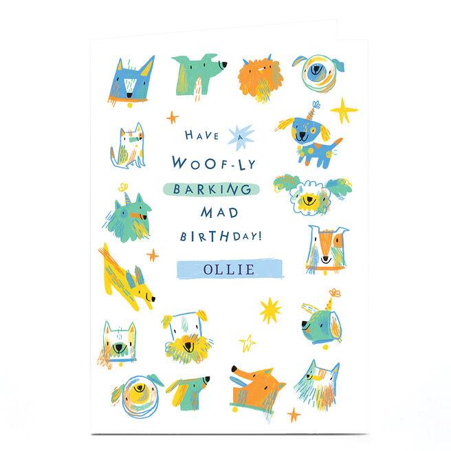 Personalised Jordan Wray Birthday Card - Dogs