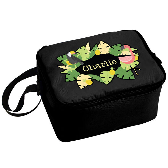 Personalised Lunch Bag - Tropical Flamingo