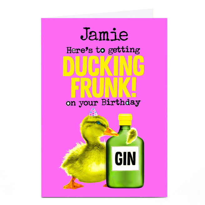Personalised PG Quips Card - Ducking Frunk!