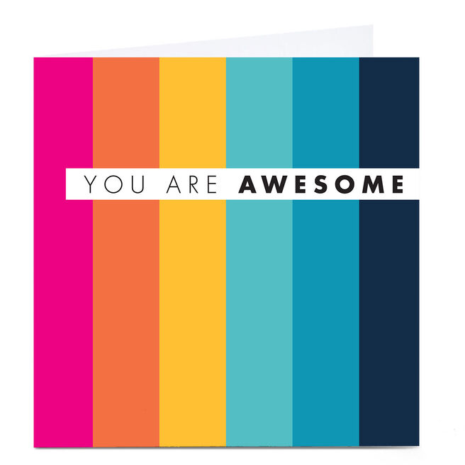 Personalised Hello Munki Card - You Are Awesome