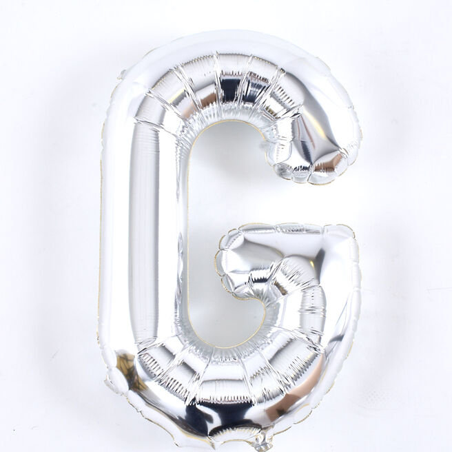Silver Letter G Air-Inflated Balloon