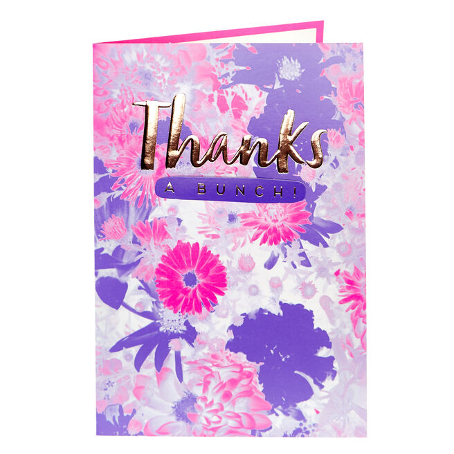 Thank You Card - Thanks A Bunch