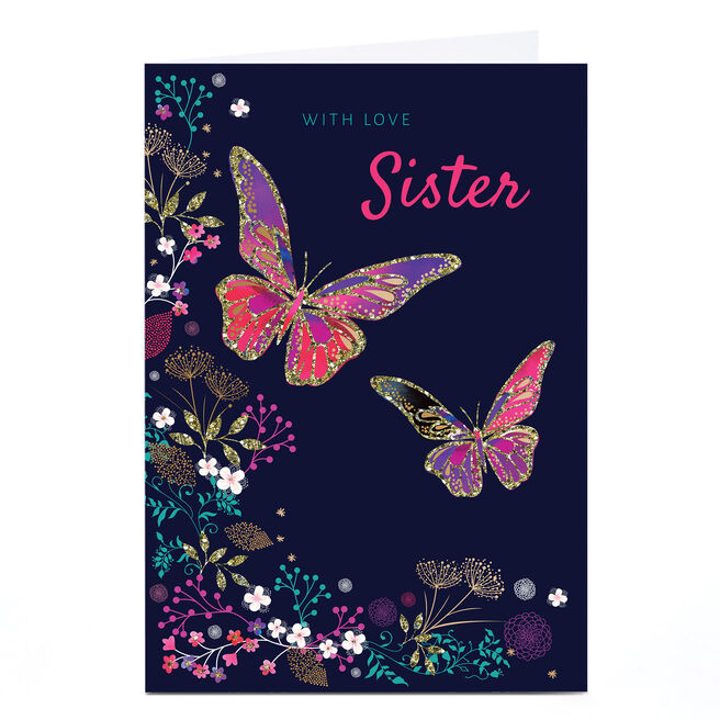 Personalised Kerry Spurling Card - Butterflies