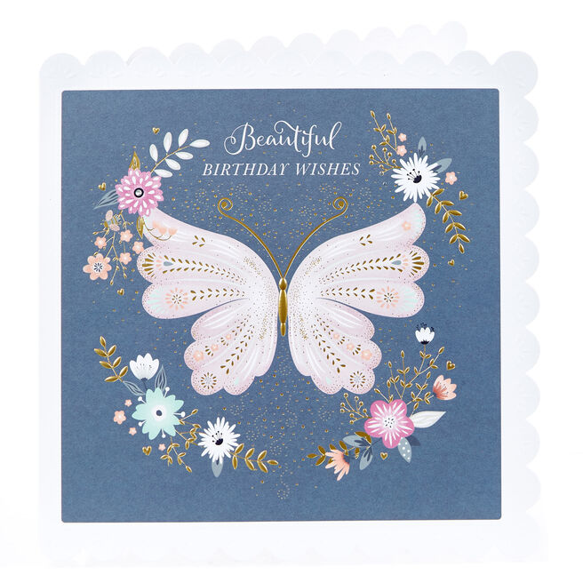 Birthday Card - Beautiful Butterfly