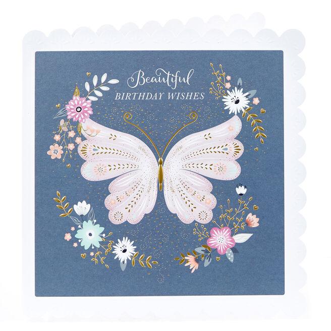 Birthday Card - Beautiful Butterfly