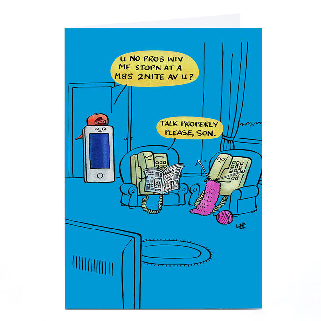 Personalised Lee Fearnley Card - Text Talk
