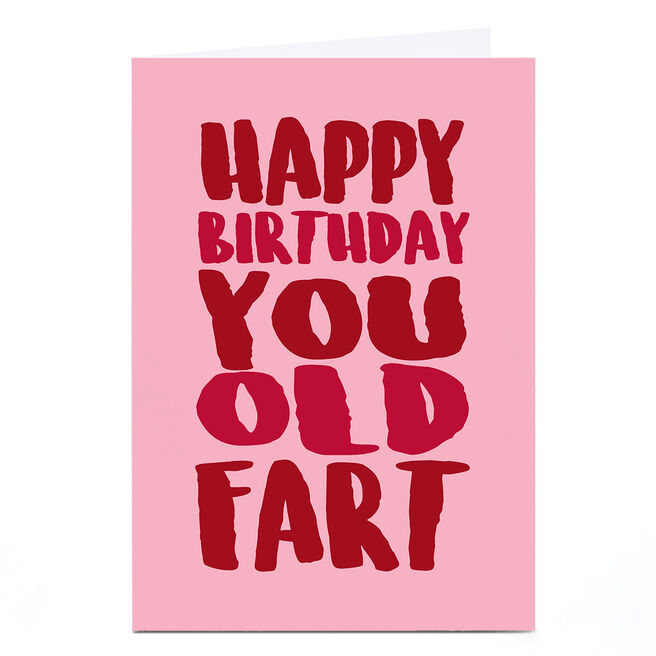 Personalised Punk Birthday Card - You Old Fart