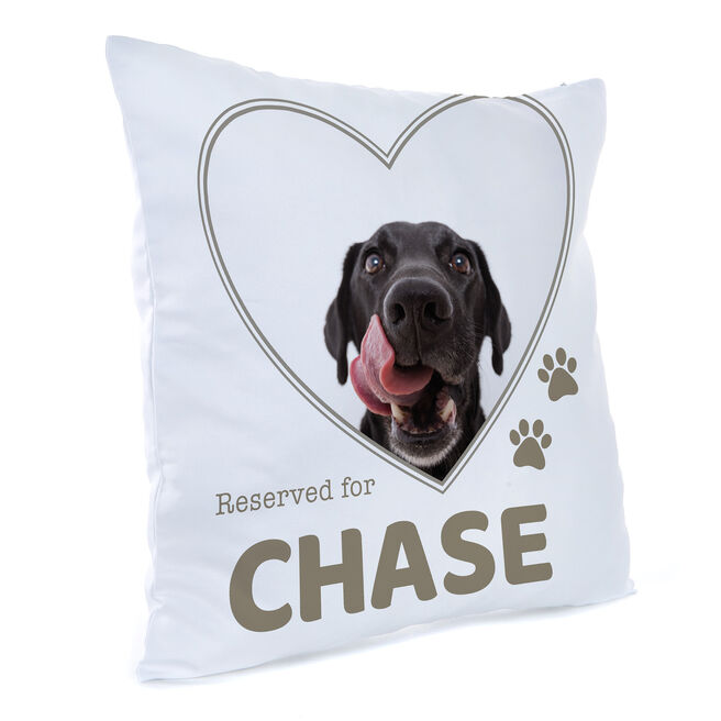 Personalised Photo Cushion - Reserved For Pet