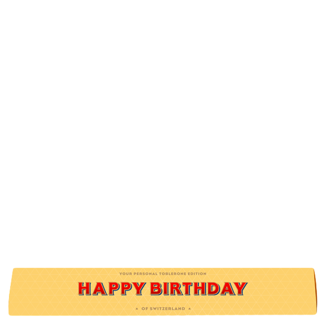 100g Toblerone - Happy Birthday