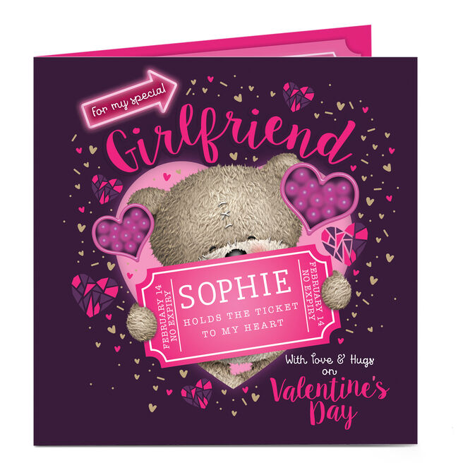 Personalised Valentine's Card - Ticket To My Heart Girlfriend