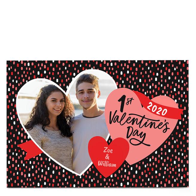 Photo 1st Valentine's Day card - Love Hearts