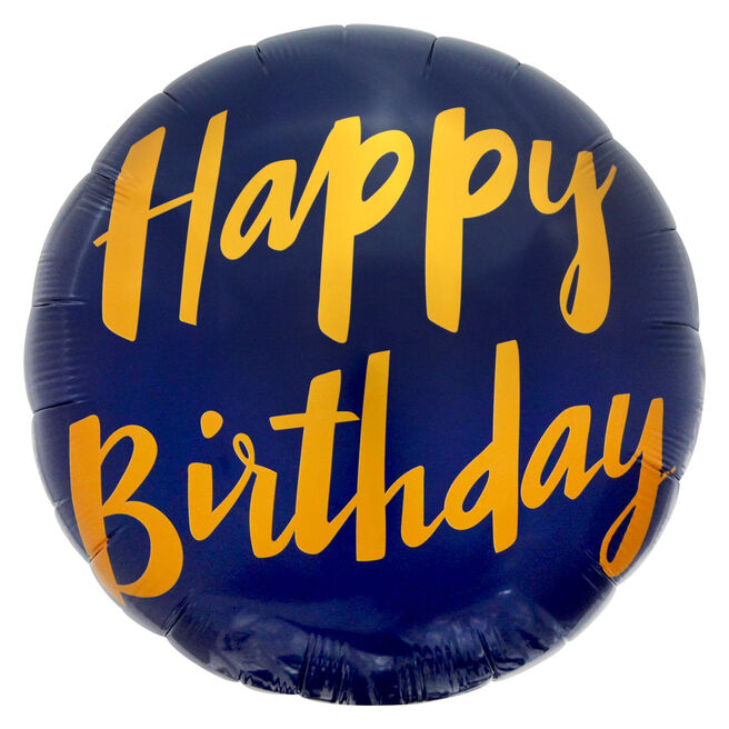 Blue Happy Birthday 31-Inch Foil Helium Balloon