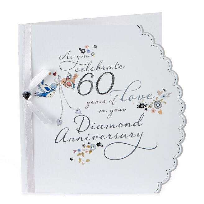 Boutique Collection Diamond Anniversary Card - 60 Years Of Love