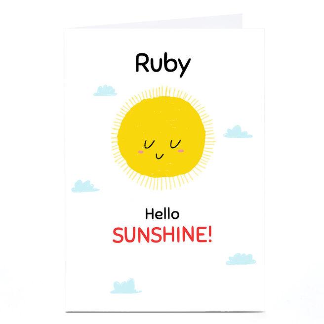 Personalised Hew Ma New Baby Card - Hello Sunshine
