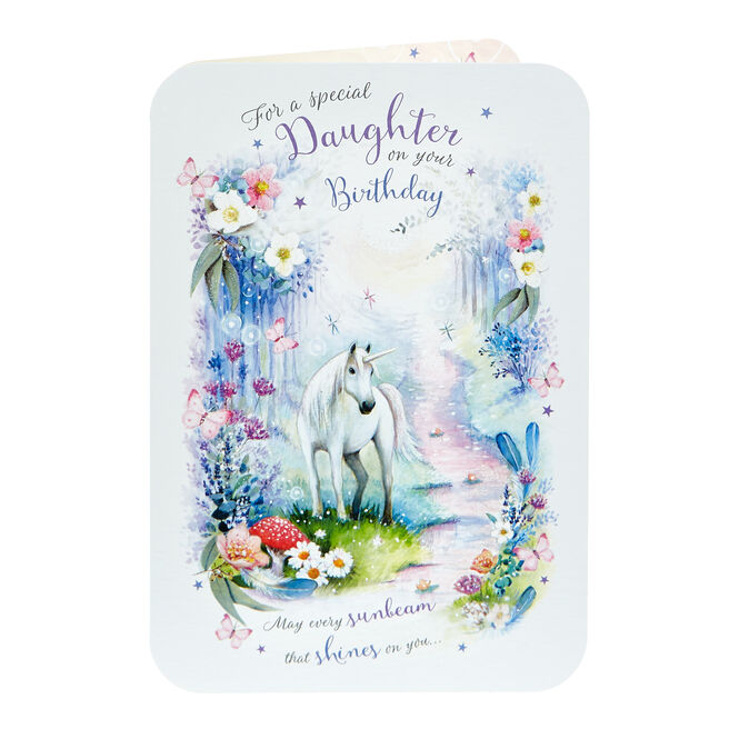 Birthday Card - Special Daughter, Unicorn