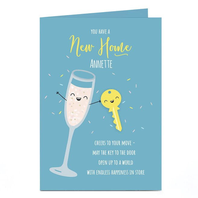 Personalised New Home Card - Endless Happiness